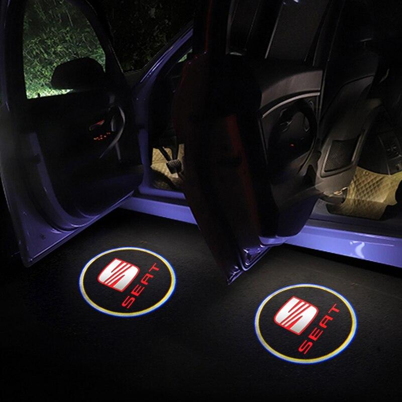 1 шт. новый автомобильный Стайлинг беспроводной светодиодный автомобильный дверь приветственный логотип светильник ный проектор призрачн...