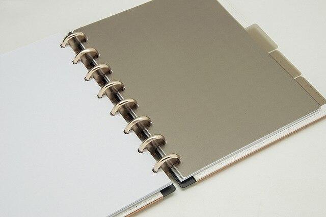 Planner bullet jounal à reliure à disques - or gold intérieur ouvert