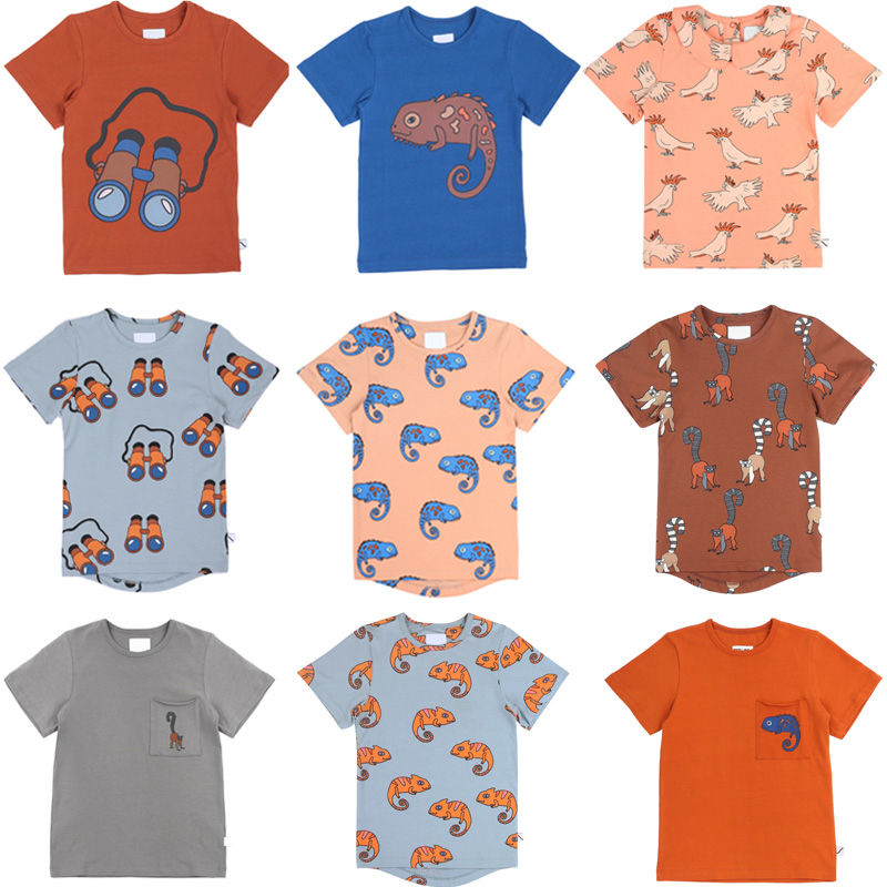 Kids T Shirts 2020 CarlijnQ Brand New Summer Boys Girls Cartoon Print Short Sleeve T Shirts Baby Child Fashion Tops Tees Clothes