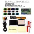 V2 IPS ЖК-дисплей ТВ версия для GBA Подсветка ЖК-дисплей 10 уровней Яркость для GBA ТВ версия для игровая приставка GBA и нарезана так, чтобы вы смогл...