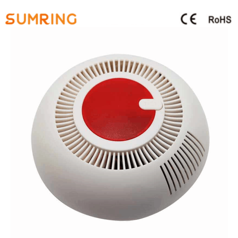 Smoke Detector ROHS Fire Alarm Stand Alone Photoelectric Smoke Detector For Home