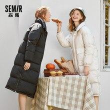 SEMIR – doudoune longue pour femme, manteau coupe-vent, Super Long, épais, longueur aux genoux, nouvelle collection hiver 2020