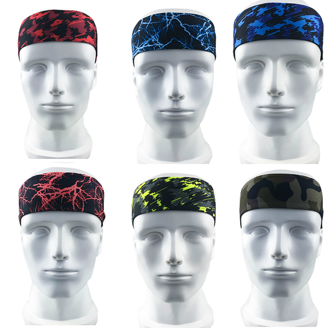 Absorbent Fitness Sport Sweat Headband Elastic Sweatband For Men And Women Yoga Hair Bands Head Sweat Bands Gym Sports