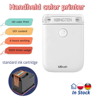 In Stock Mbrush Wireless Bluetooth Mini Printer Portable Tattoo Logo Mobile Color Handheld Inkjet Printer USB for IOS Android