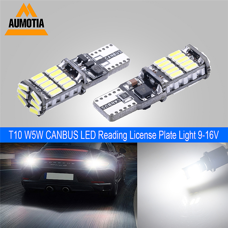 2x <font><b>T10</b></font> Car LEDs Light 168 <font><b>CANBUS</b></font> No Error 194 <font><b>W5W</b></font> 26 LED <font><b>4014</b></font> Clearance Lamp Interior lamps Side Lights License Plate Light image