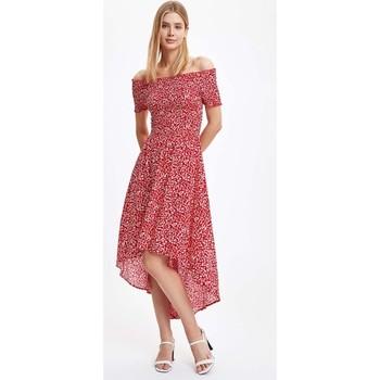 DeFacto wzorzysta krótka sukienka z rękawami S4578AZ20SM tanie i dobre opinie CN (pochodzenie) Wiskoza WOMEN
