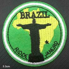 Brazil Statue Iron On Embroidered Clothes Patches For Clothing Woman Girl Stickers Garment Wholesale