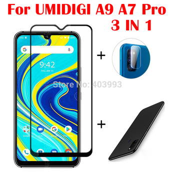 3-in-1 Case Glass For UMIDIGI A9 A7 Pro Screen Protector Glass Full Protection on For UMIDIGI A7 Pro A7 Camera Lens Glass