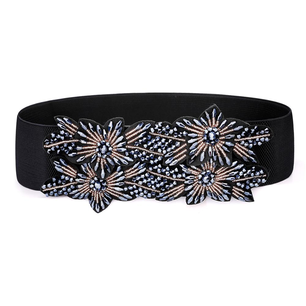 2020 New Models Belt Waist Seal Elastic Band Strong Elasticity Female Fashion Trend Kirsite Button Buckle Wide Belt