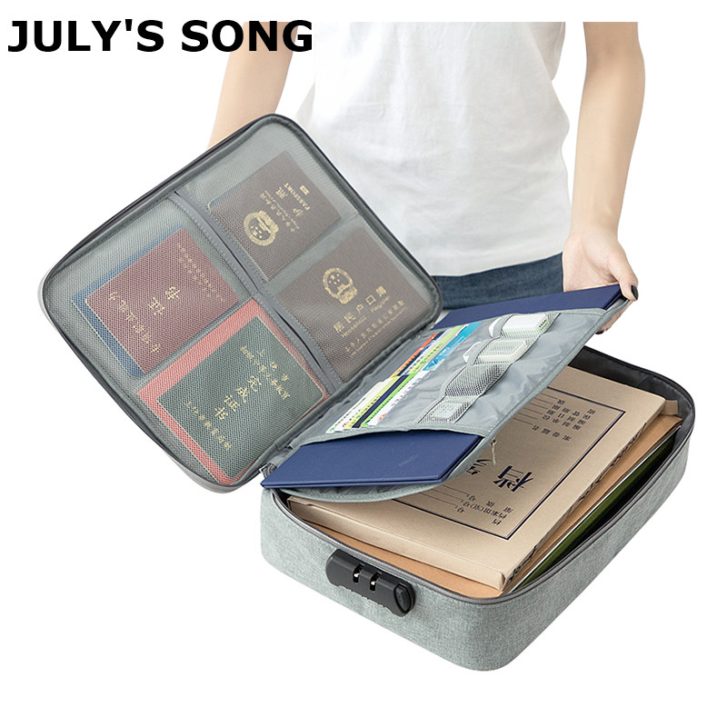 Multifunction Document Storage Bag Household Data Real Estate License Organizer Waterproof Travel Portables Suitcase Accessories