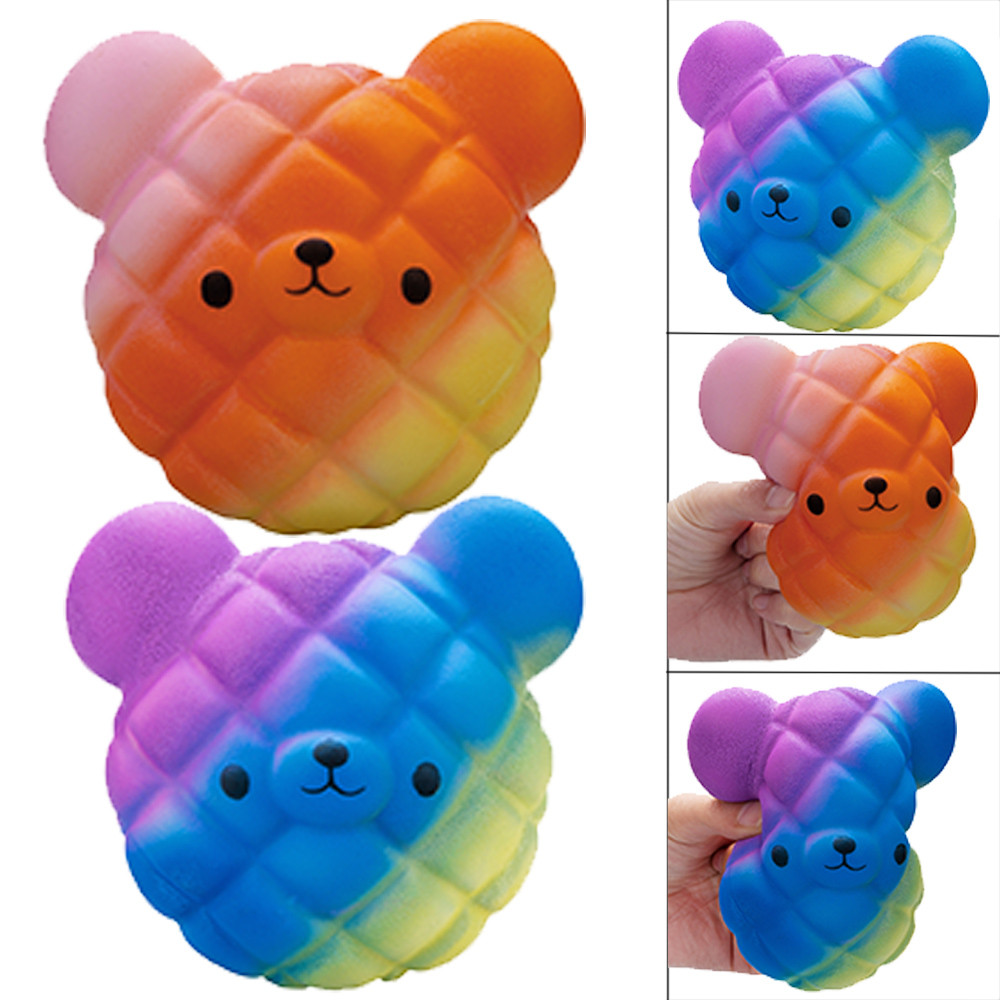 Kawaii Cartoon Squishy Galaxy Bear Toy Slow Rising Cream Scented Stress Reliever Toy Novelty Stress Relief Funny Gift Toy L1217