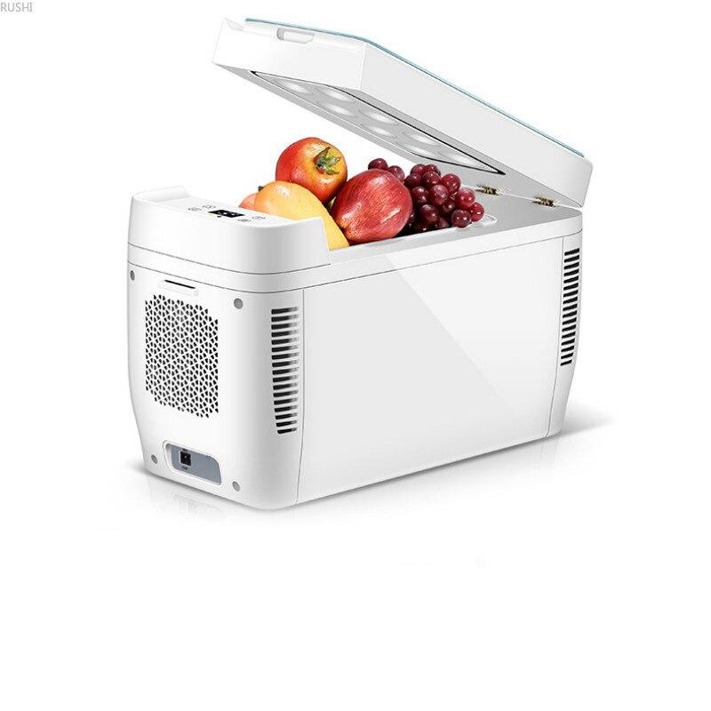 DV12V AC220V 11L Dual Core Vehicle Home Mini Refrigerator Small Household Car Use Refrigeration Car Electrical Cooler Box