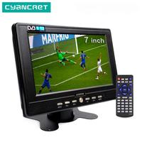 LEADSTAR D768 7-дюймовый портативный ТВ DVB-T2 ATSC tdt цифровой и аналоговый мини-Телевизор для маленьких автомобилей Поддержка USB TF MP4 H.265 AC3