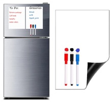цена Dry-erase Whiteboard Magnetic White Board Notice Board Record Board Magnets for Refrigerators Free Whiteboard Marker Pen Eraser онлайн в 2017 году