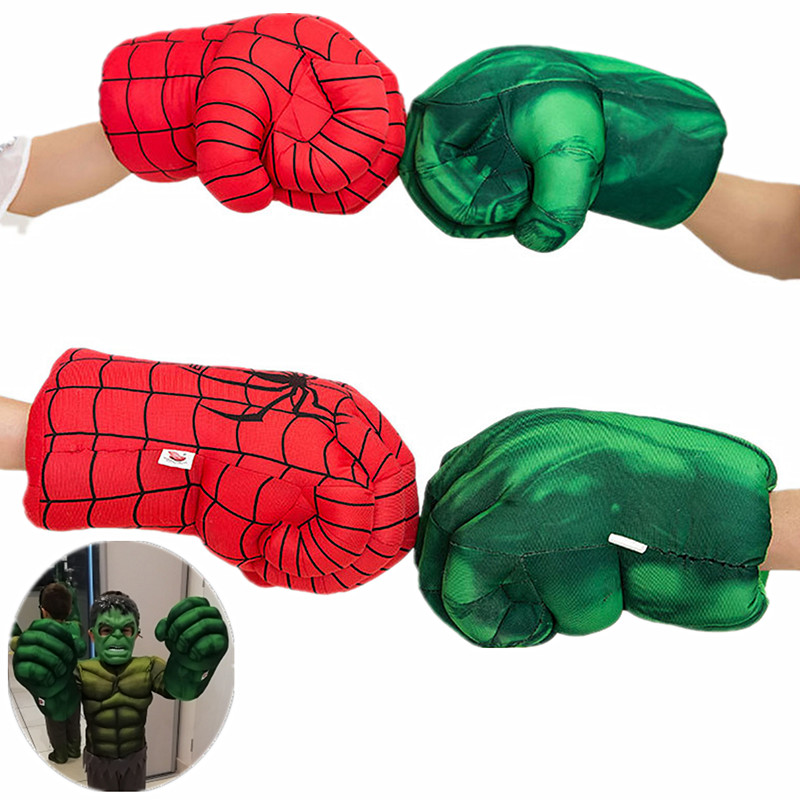 2pc Adult & Kids Superhero Hulk Plush Gloves Cosplay Children Halloween Party Fantasy Props Gifts Gloves
