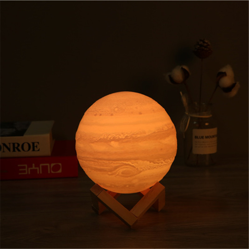 3D Printing Jupiter Lantern Creative Romantic Planet Lantern 16-color Bedside Decorative Table Lantern