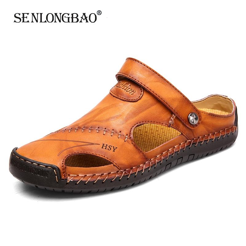 Новинка; Мужские повседневные мягкие сандалии; Удобные мужские летние кожаные сандалии; Мужские пляжные сандалии; Мужские шлепанцы; Большие размеры 38 48|Сандалии|   | АлиЭкспресс