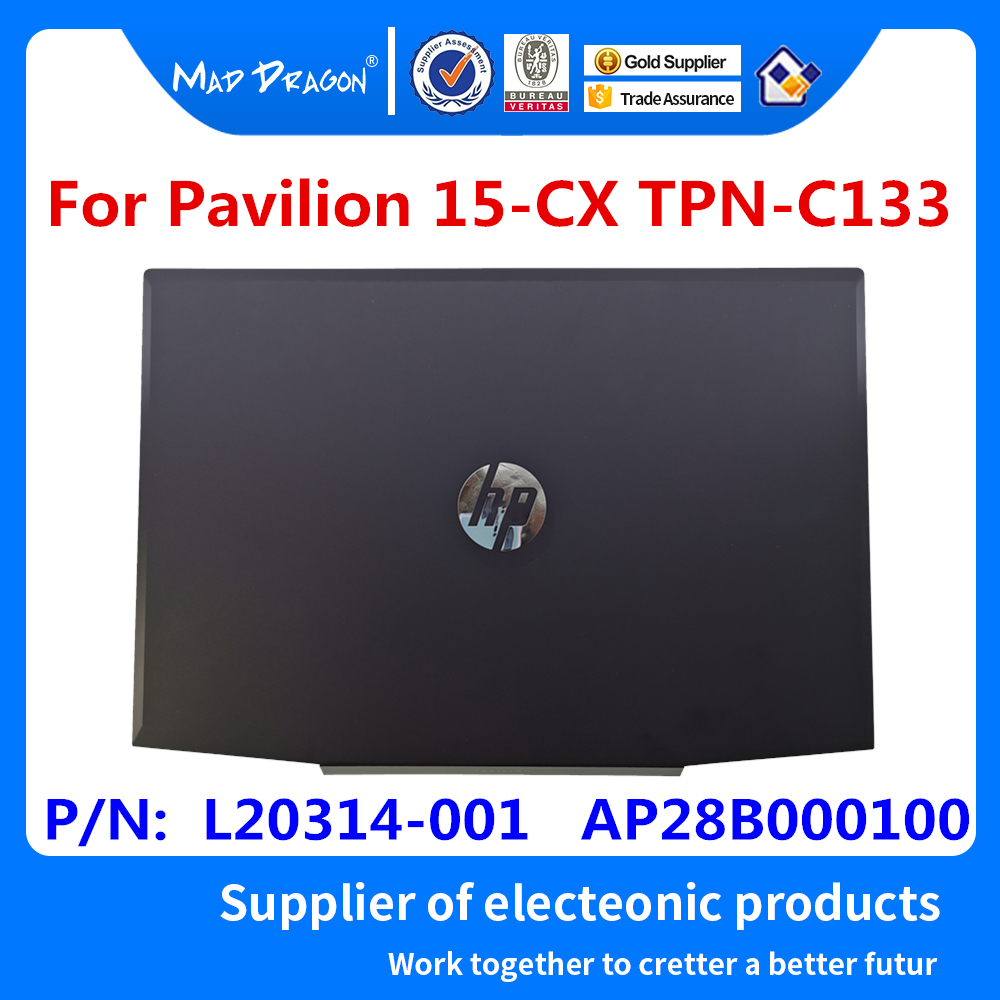 NEW For HP Pavilion 15-CX Series Laptop LCD Back Cover/LCD Front Bezel/LCD Hinges/Palmrest Upper Case/Bottom Case L20314-001