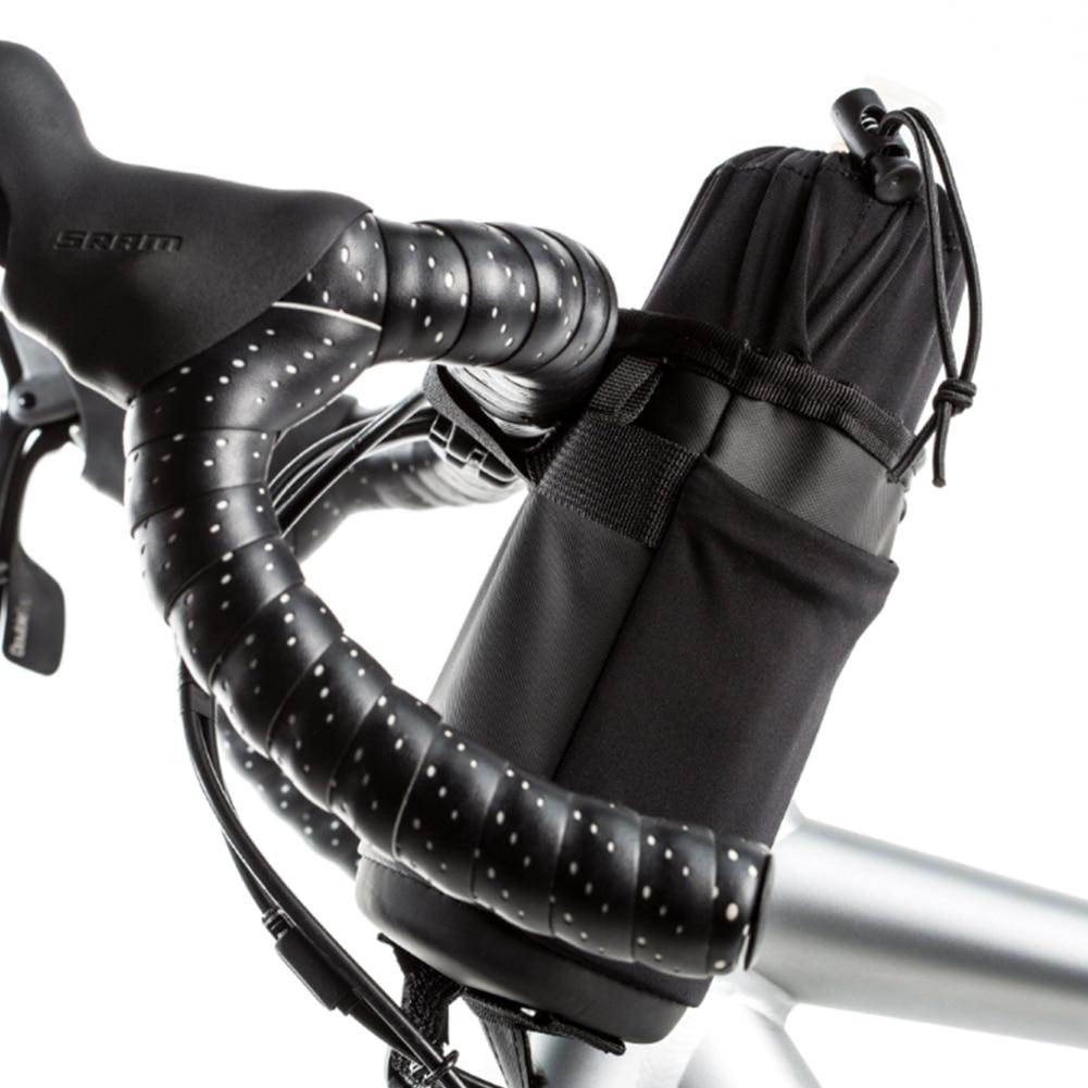 Bike Handlebar Stem Drawstring Kettle Bag Bicycle Insulated Bottle Holder Pouch Portable Bike Handlebar Drawstring Kettle Bag