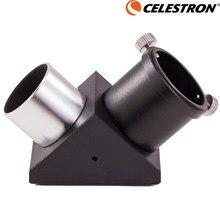 Obsługi Celestron wyprostowany obraz metalowe pełne pryzmat Zenithal lustro Adapter 31.7mm monokularowy teleskop astronomiczny Adapter 1.25 ''90 stopni