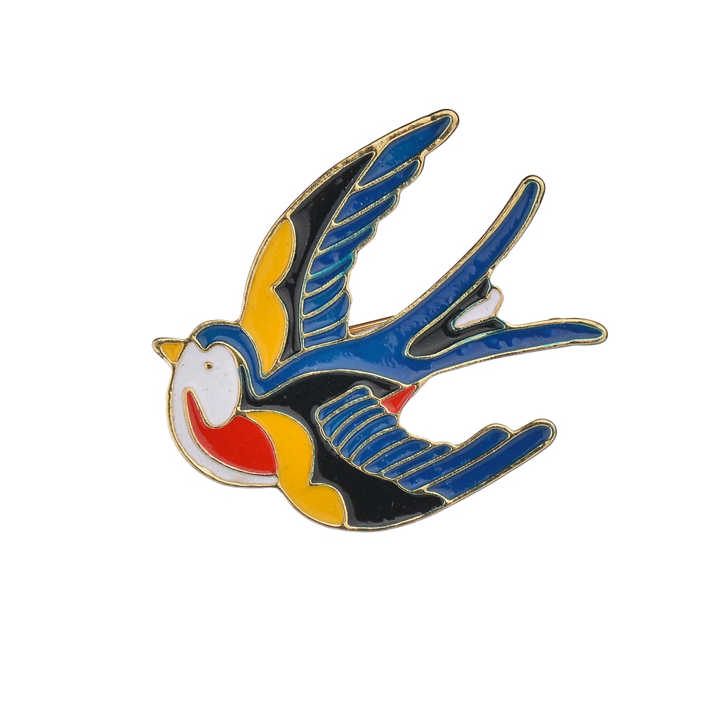 Gariton Lovely Flying Swallow Brooch Birds Women Jewelry Party Banquet Accessories Enamel Animal Brooches Pins
