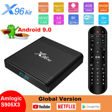 X96 Air Android 9.0 Smart TV Box Amlogic S905X3 Set-Top Box 2.4G & 5.8GHz Dual Wifi TV Box 8K UHD Google Play Lettore Multimediale di Casa(China)
