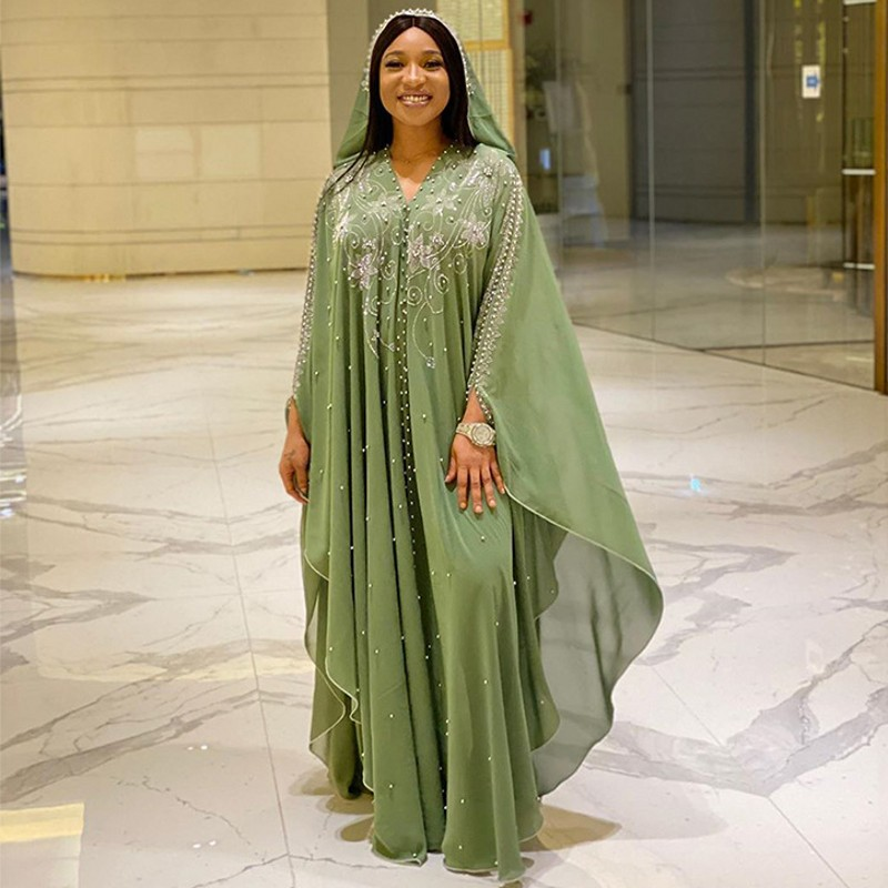 Length 144cm African Dresses For Women Africa Clothing Muslim Long Dress High Quality Length Fashion African Dress For Lady