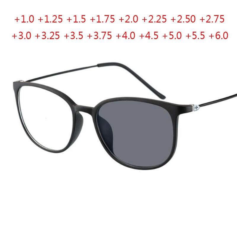 Cat Eye Photochromic Reading Glasses Men Metal Hyperopia Eyeglasses Women Presbyopic Eyewear +1.0 +1.5 +2.0 +2.5 +3.0 To +6.0