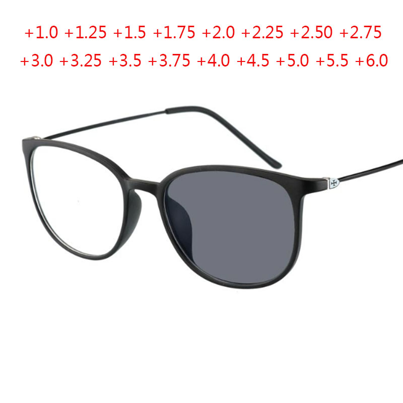 Cat Eye Photochromic Reading Glasses Men Metal Legs Women Eyeglasses Presbyopic Eyewear +1.0 +1.5 +2.0 +2.5 +3.0 +4.0 +5.0 +6.0