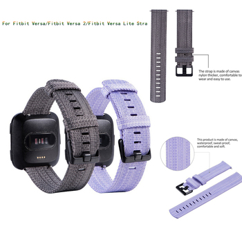 Fabric and Stainless Steel Strap for Fitbit Versa/Fitbit Versa 2/Fitbit Versa Lite Smart Watch Wrist Bracelet Watchband Strap фото