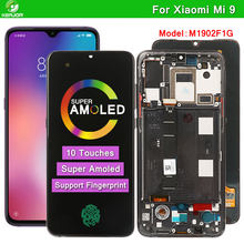 Amoled lcd para xiaomi mi 9 display 10 toques de tela para xiaomi mi 9 lcd substituição para mi9 global m1902f1g digitador da tela
