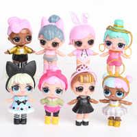 8 piezas LOL sorpresa muñeca juguete adornos confeti Pop purpurina serie Anime figuras de acción para niños cumpleaños regalos de navidad 2C02