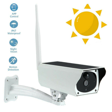 Solar Powered Home security IP Camera Wifi Wireless Chargeable HD 1080P Outdoor  AS99