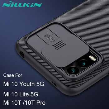 Camera Protection Case For Xiaomi Mi 10 Youth 5G Cover Mi 10T Pro MI10 Lite NILLKIN Camshield Slide Cover Lens Protection Case