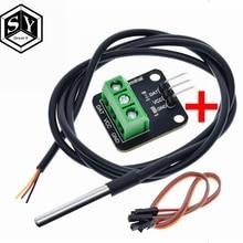 DS18B20 Temperature Sensor Module Kit Waterproof 100CM Digital Sensor Cable Stainless