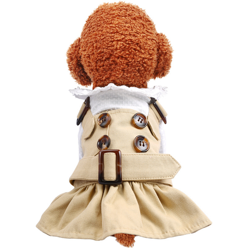 Spirng Summer Dog Clothes Handsome Trench Coat Dress Pets Outfits Warm Clothes for Small Dogs Costumes Jacket Puppy Shirt Dogs 8