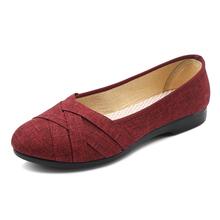 Buty damskie sandały buty kobieta leniwe płaskie buty mokasyny damskie pojedyncze buty damskie mieszkania buty z tkaniny damskie obuwie codzienne tanie tanio JUMPMORE Płótno RUBBER Slip-on Pasuje prawda na wymiar weź swój normalny rozmiar Na co dzień Fabric Płytkie Lato