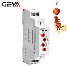 Free Shipping GEYA GRT8-S Cycler Timer Relay 220V AC 16A  AC/DC12V-240V Electronic Repeat Relay Asymmetric Timer wcj1 a 16a 220v electronic protection relay black yellow