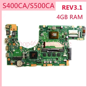 S400CA motherboard REV3.1 For ASUS S400CA I5 -3317 CPU 4GB RAM Laptop motherboard S500C S400C S500CA Notebook mainboard(China)