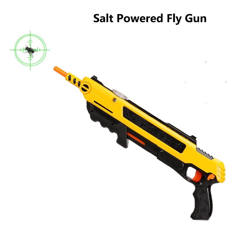Creative Bug A Salt Gun Salt Pepper Bullets Blaster Airsoft For Bug Blow Gun Mosquito Model Toy Gun Christmas Gift