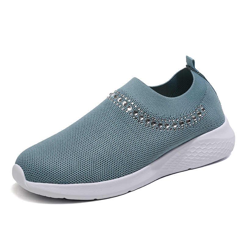 2020 người phụ nữ Vulcanize Giày Sneakes Trắng Giày Sneakers Thời Trang Nữ Trơn Mút Giày Mùa Hè Huấn Luyện Viên Rổ Femme
