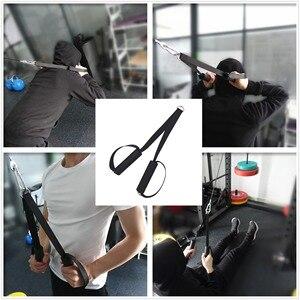 Трос для фитнеса, сверхпрочный трос с ручкой, нескользящий удобный для вытяжного кабеля, крепление для машины, домашний тренажерный зал, тре...
