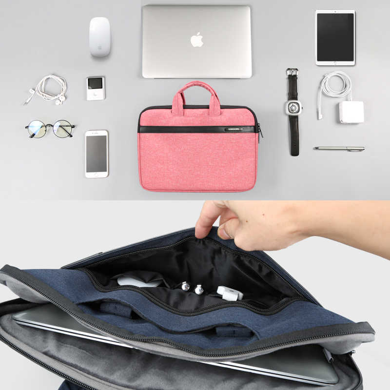 Kingsons Saco Do Mensageiro Laptop 11 12 14 polegadas Repelente de Água Saco de Nylon para Notebook Dell 14 Saco Do Portátil para Macbook pro Caso 13