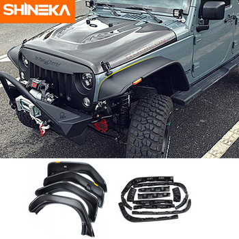 SHINEKA Mudguards For Jeep Wrangler JK 2007-2017 Wheel Eyebrow Fender Cover Mud Flaps Offroad Accessories For Jeep Wrangler JK