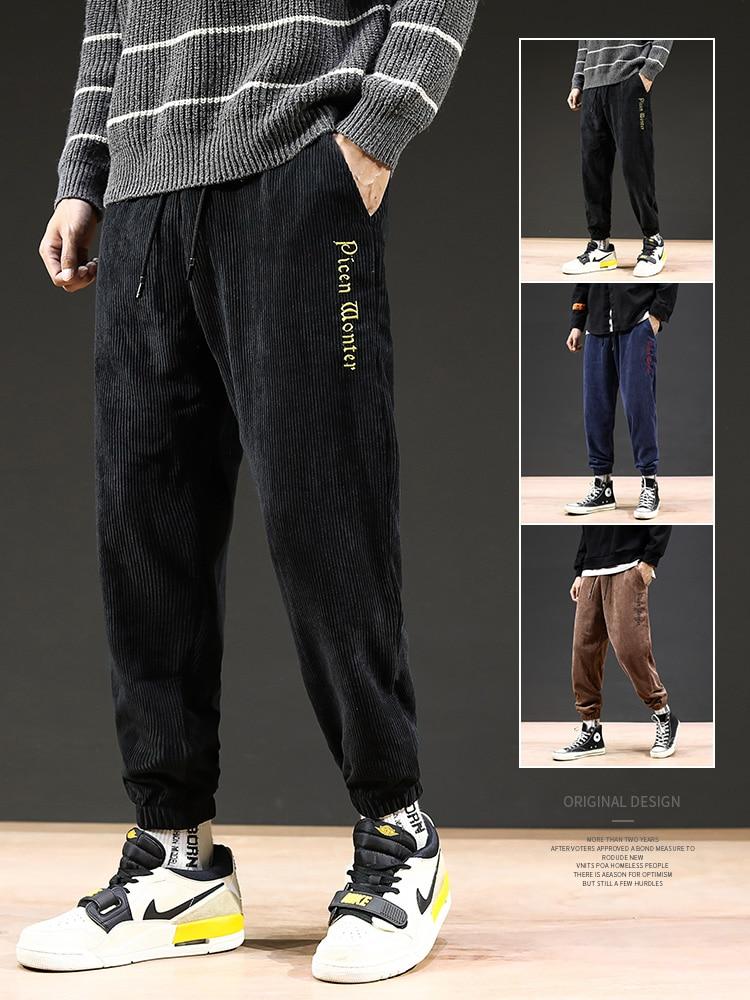 Pants Men's Spring And Autumn 2019 New Leisure Pants Movement Loose Velvet Corduroy Trousers