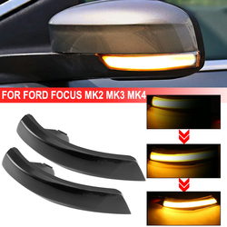 2pcs Flowing Turn Signal Light LED Side Wing Rearview Mirror Blinker Indicator Light For Ford Focus Mk2 Mk3 Mondeo Mk4
