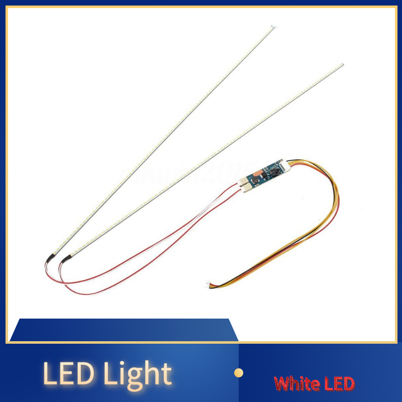 White LED Universal Backlight Kit Adjustable LED Light LED Display LED Light with Support 15inch-24inch Wide 533MM