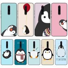Reayou Cute Lovely Penguin Luxury Hybrid Black TPU Soft Rubber Phone Cover For Redmi K20 Note4 4X 5 5A 6 6PRO 7 8 8PRO