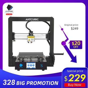 ANYCUBIC mega-s drukarka 3D I3 Mega Upgrade wielkoformatowa metalowa rama TPU wysokiej precyzji ekran dotykowy DIY zestaw do drukarki 3D impressora tanie i dobre opinie 20-100mm s 110-220 V 210x210x205mm FDM (Fused Deposition Modeling) PLA ABS TPU PEGT X 0 01mm Y 0 01mm Z 0 002mm 3D Printer Desktop kit