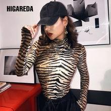 Higareda 2020 с тигровым принтом сексуальный костюм в обтяжку
